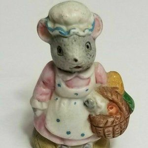 Russ Berrie Mouse Miniature Porcelain Figurine
